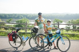 Father and daughter share a Cycling the Erie Canal adventure