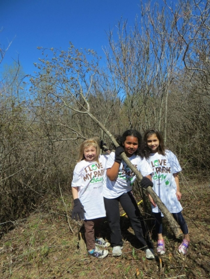 I Love My Park Day volunteers at Grafton Lakes State Park