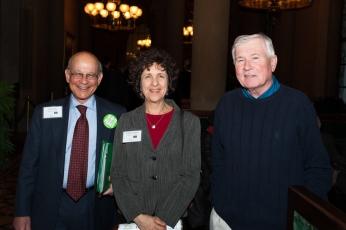 PTNY Board Member Bob Kafin, PTNY ED Robin Dropkin, and Friends of Letchworth State park VP Alan Gregg at the New York State Capitol