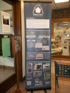 display panel at Visitor Center