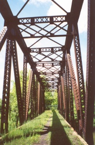 Railroad structure along the Genesee Valley Greenway.