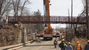 Bridge under construction.
