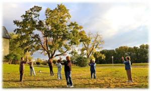 Tai Chi at Schoharie Crossing Visitor Center.