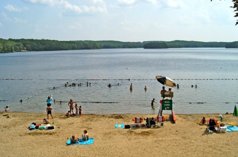 Lake Tiorati Beach, Harriman State Park (Taconic Region): Although the smaller of Harriman State Park's beaches, Tiorati Beach wins us over with its views of meadows and rolling wooded hills.