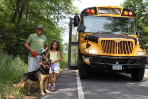 Hikers ready to board the new shuttle bus in Tuxedo, NY.