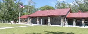 The new beach bathhouse at Verona Beach State Park